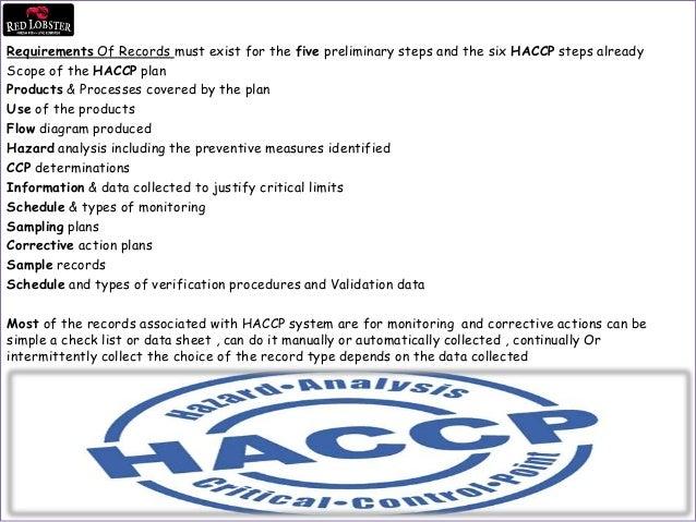 HACCP Training Program ( Red Lobster Ryd  )