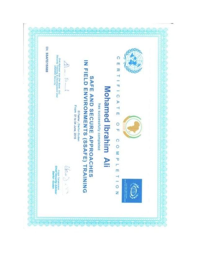 ssafe certificate
