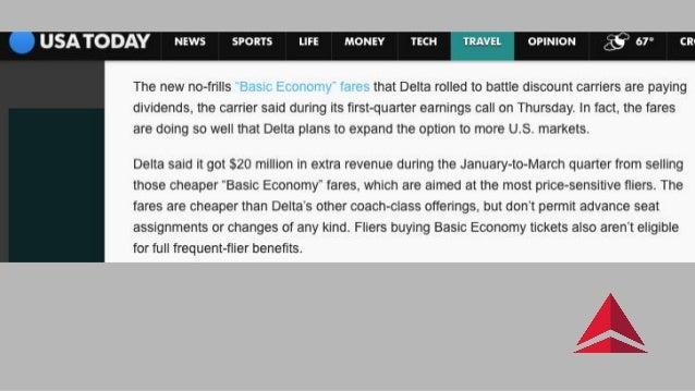 Delta Final basic economy