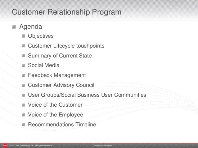 customer and employee relationship program