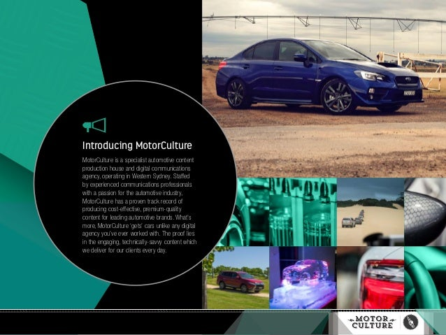 Introducing MotorCulture MotorCulture is a specialist automotive content production house and digital communications agenc...