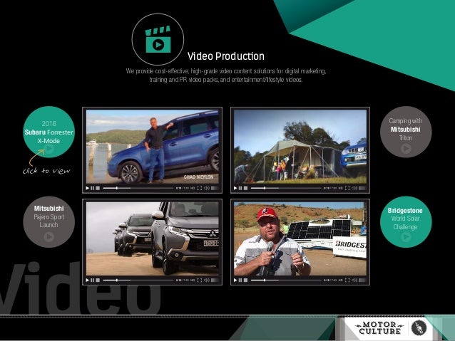 Video 2016 Subaru Forrester X-Mode Video Production We provide cost-effective, high-grade video content solutions for digi...