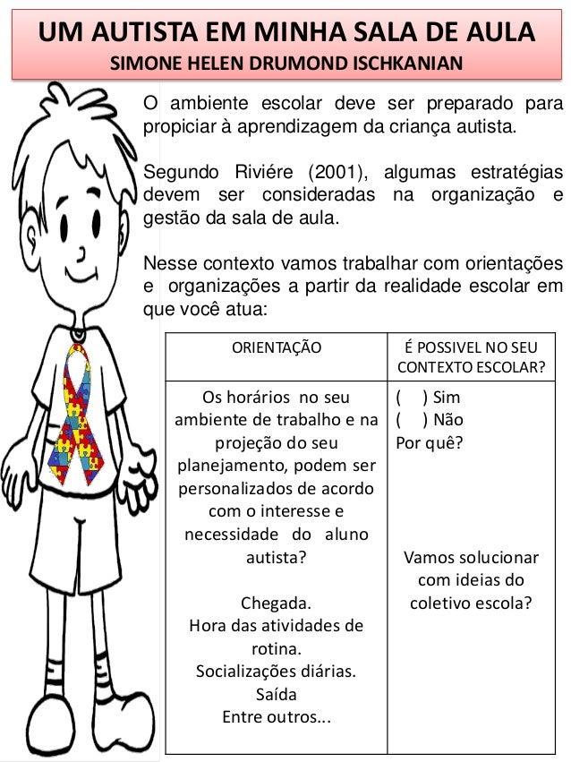Top 91 autismo e sala de aula adaptação por simone helen drumond AL76