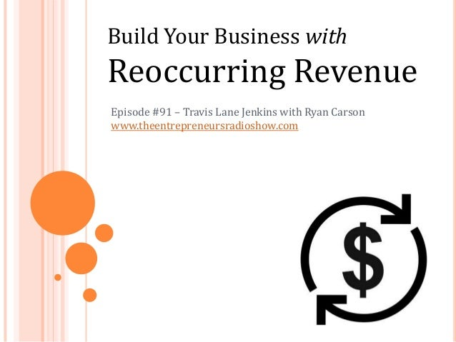 Build Your Business with Reoccurring Revenue Episode #91 – Travis Lane Jenkins with Ryan Carson www.theentrepreneursradios...