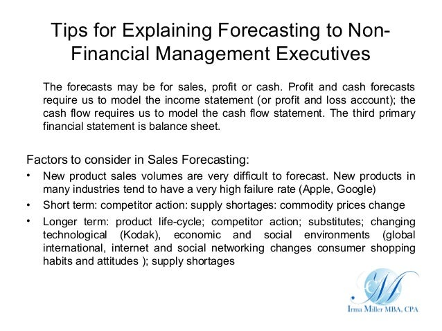 Using Financial Forecasts To Advise Business Financial Forecasting