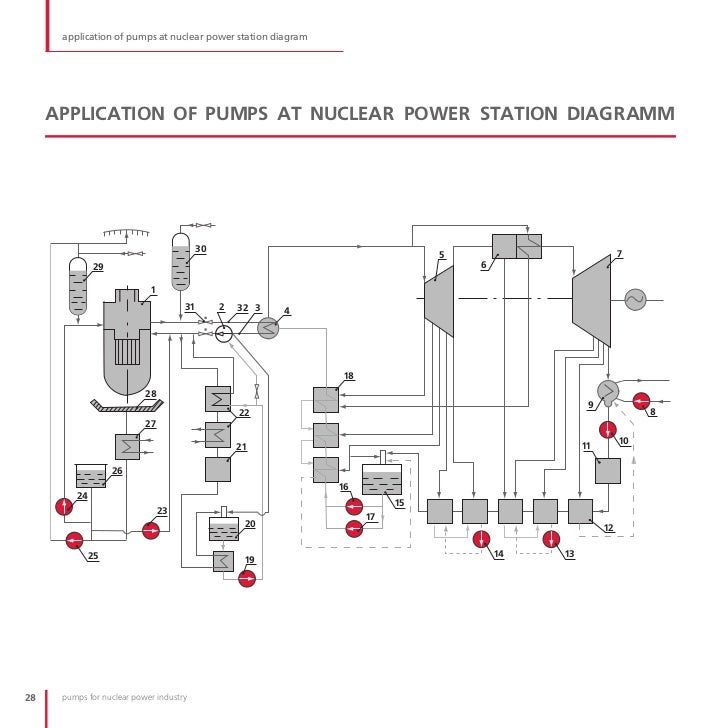 Pumps for nuclear power industry