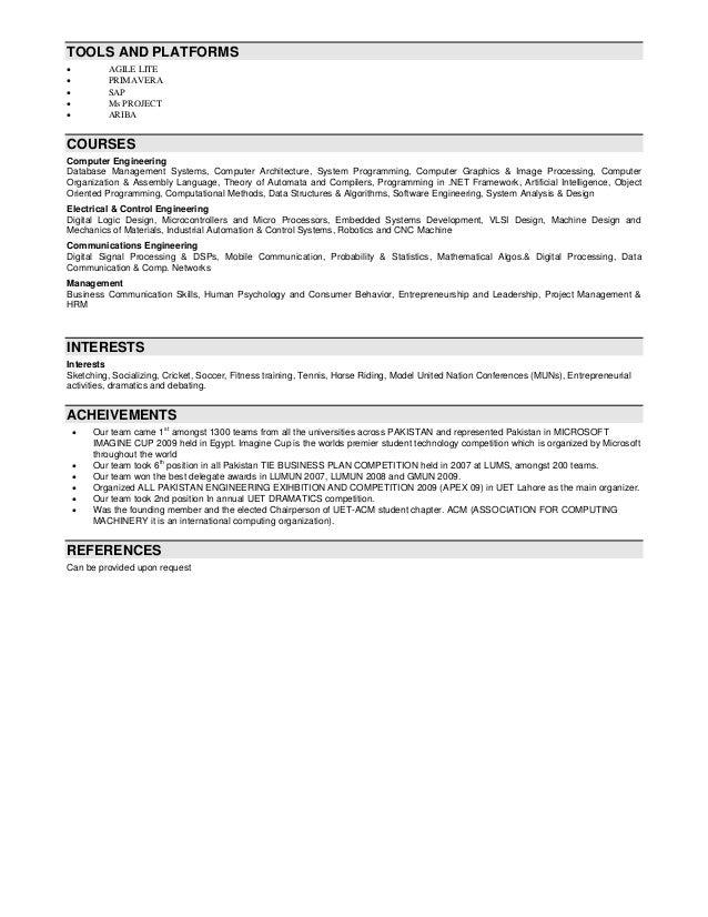 computer architecture resume