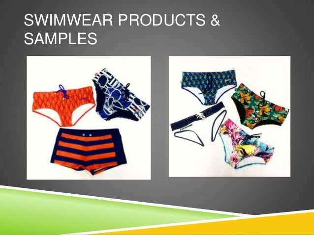 SWIMWEAR PRODUCTS & SAMPLES