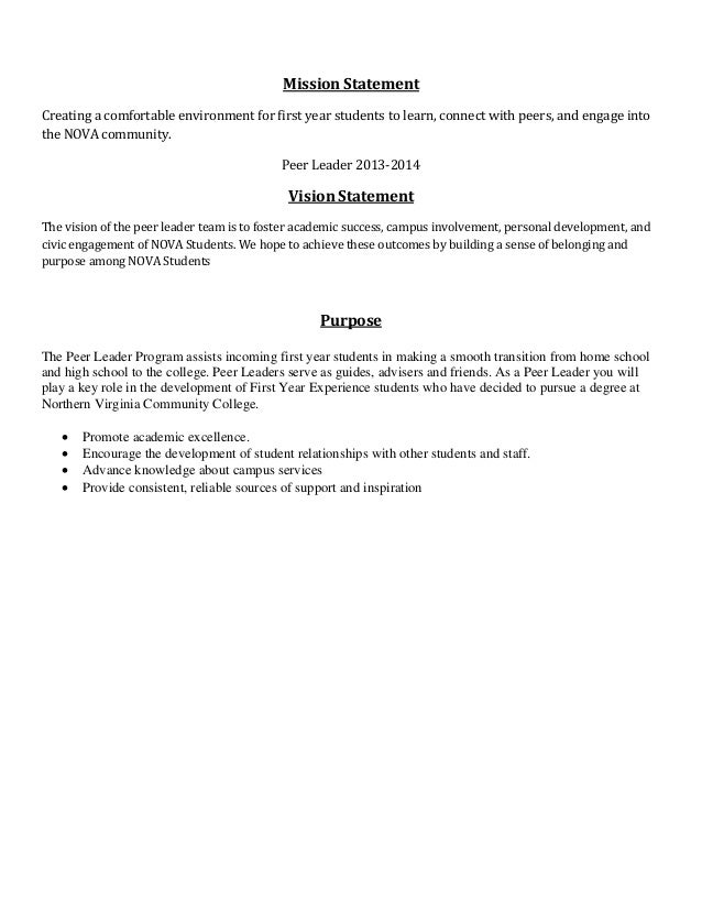 peer leadership essays for high school
