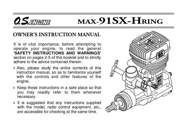 os 91sx h manual rh slideshare net os max 10 engine manual os 46 engine manual