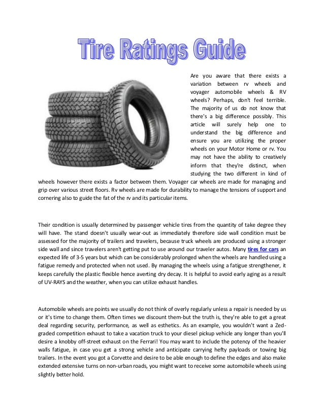 Tire Ratings Guide >> Auto Tire Ratings