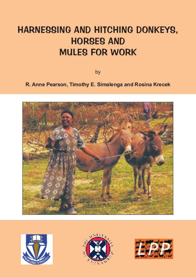 HARNESSING AND HITCHING DONKEYS,          HORSES AND        MULES FOR WORK                           by R. Anne Pearson, T...