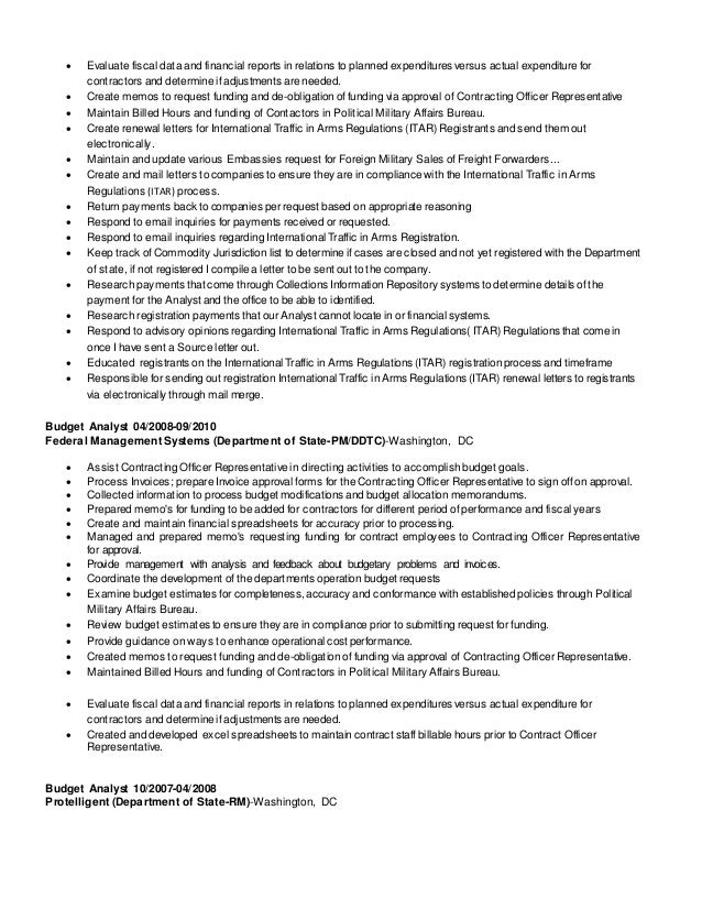 SlideShare  Management And Program Analyst Resume