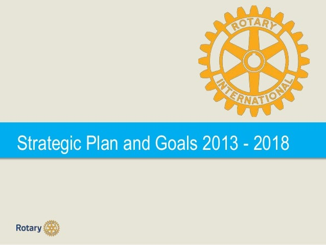 Strategic Plan and Goals 2013 - 2018