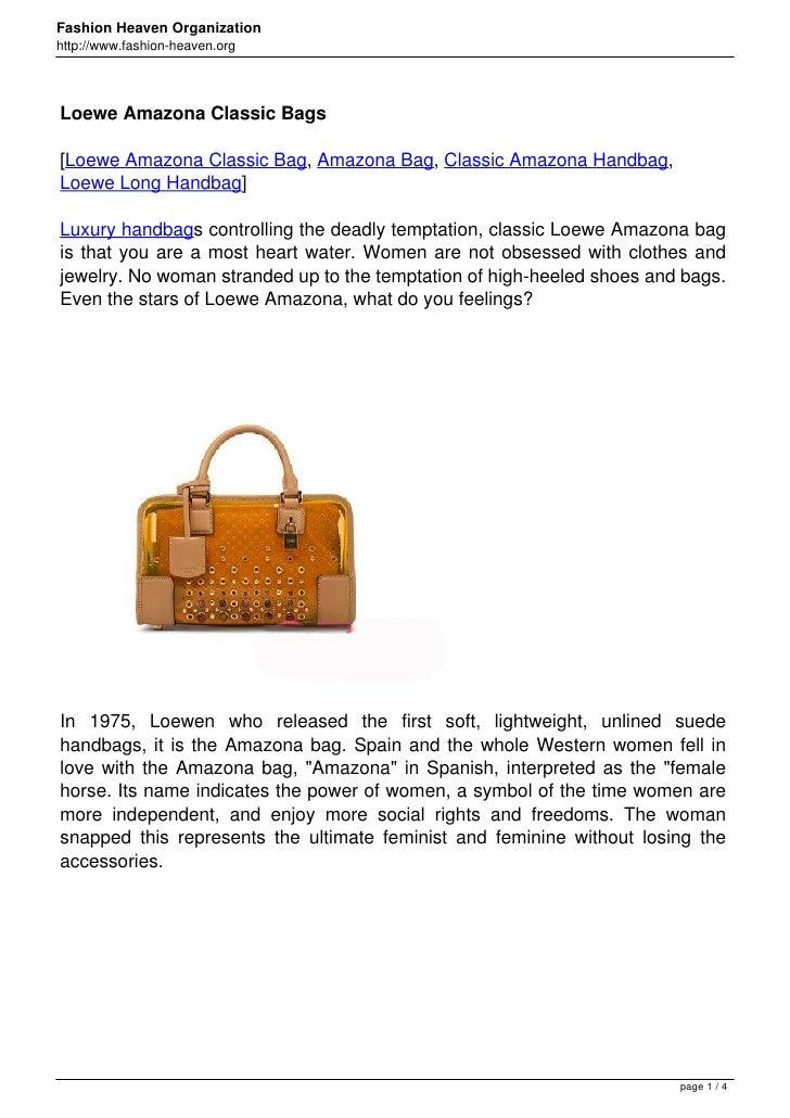 Fashion Heaven Organizationhttp://www.fashion-heaven.orgLoewe Amazona Classic Bags[Loewe Amazona Classic Bag, Amazona Bag,...