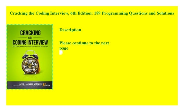 Cracking The Coding Interview 6th Edition 189 Programming Question