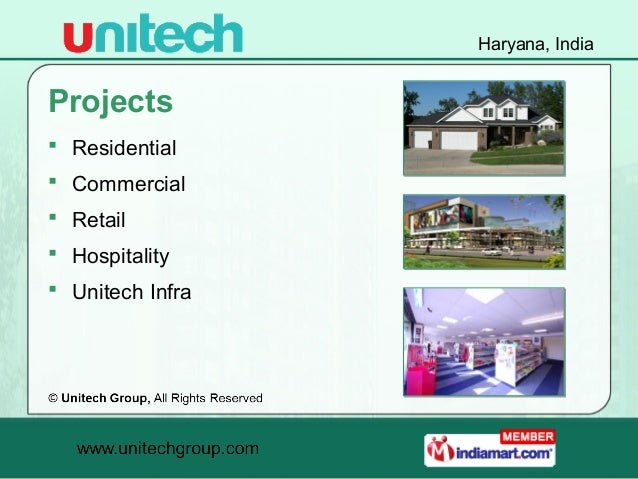 Residential Projects By Unitech Limited Gurgaon Gurgaon