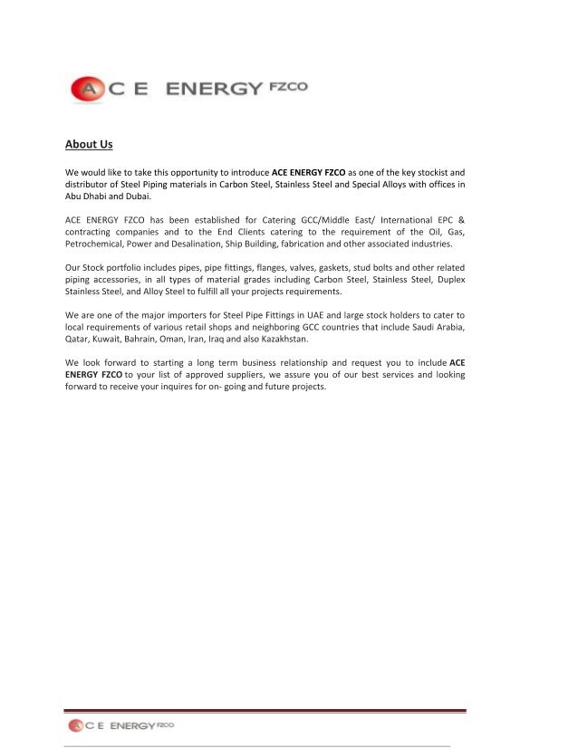 Company Profile - Ace Energy