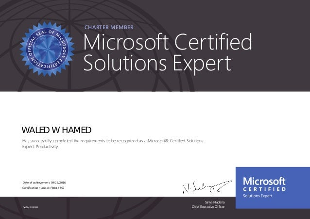 Microsoft® Certified Solutions Expert MCSE Productivity