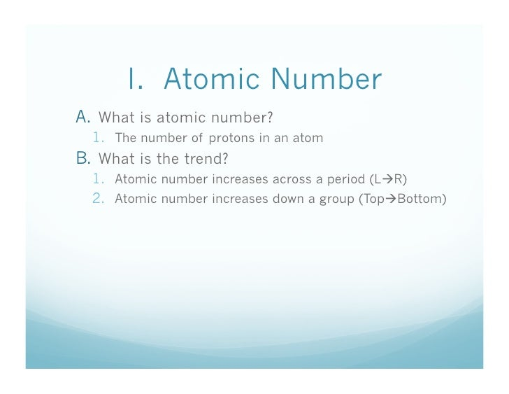 What are the periodic trends trends atomic number atomic mass atomic radius 6 urtaz Image collections