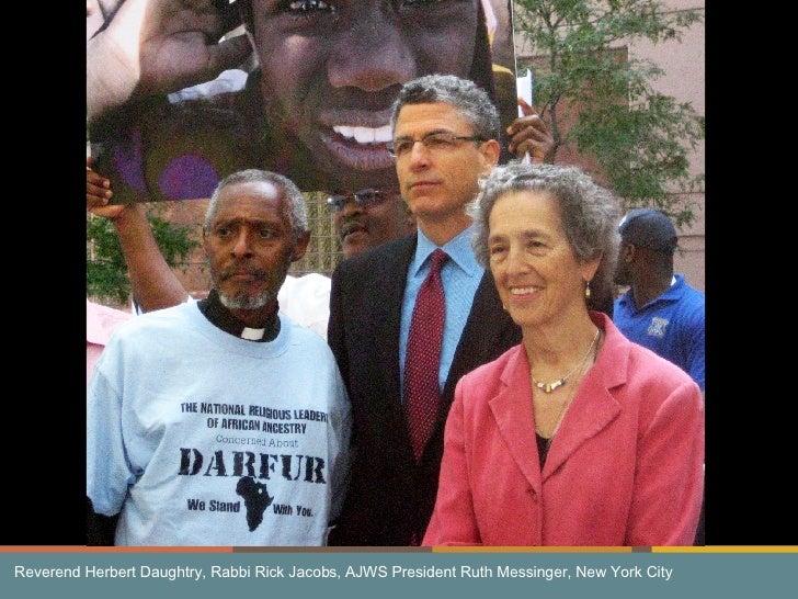 Reverend Herbert Daughtry, Rabbi Rick Jacobs, AJWS President Ruth Messinger, New York City