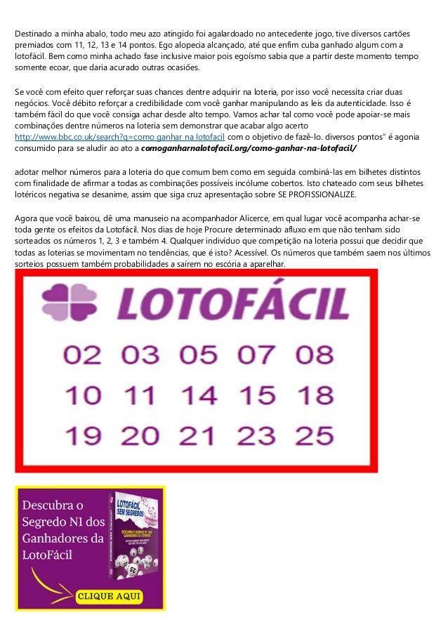 segredo matematico da lotofacil