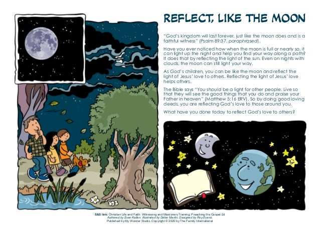 """Reflect, Like the Moon """"God's kingdom will last forever, just like the moon does and is a faithful witness"""" (Psalm 89:37, ..."""