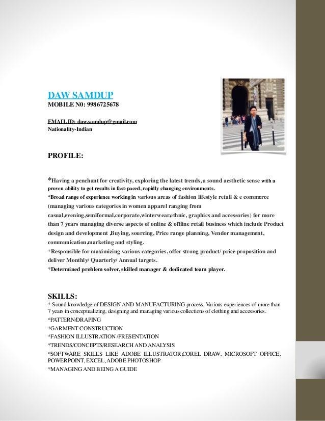 Daw SamdupResume product marketing manager resume