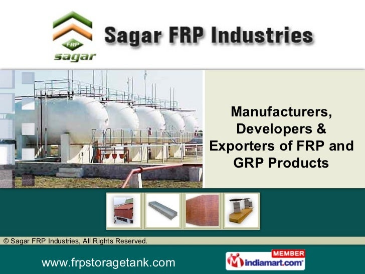 Manufacturers, Developers & Exporters of FRP and GRP Products