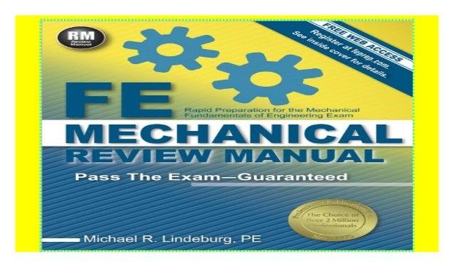 Fe Mechanical Review Manual Pdf Manual Guide