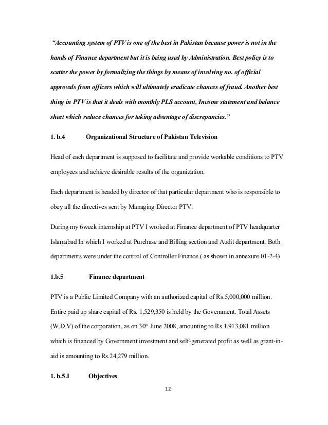 internship report topics on accounting