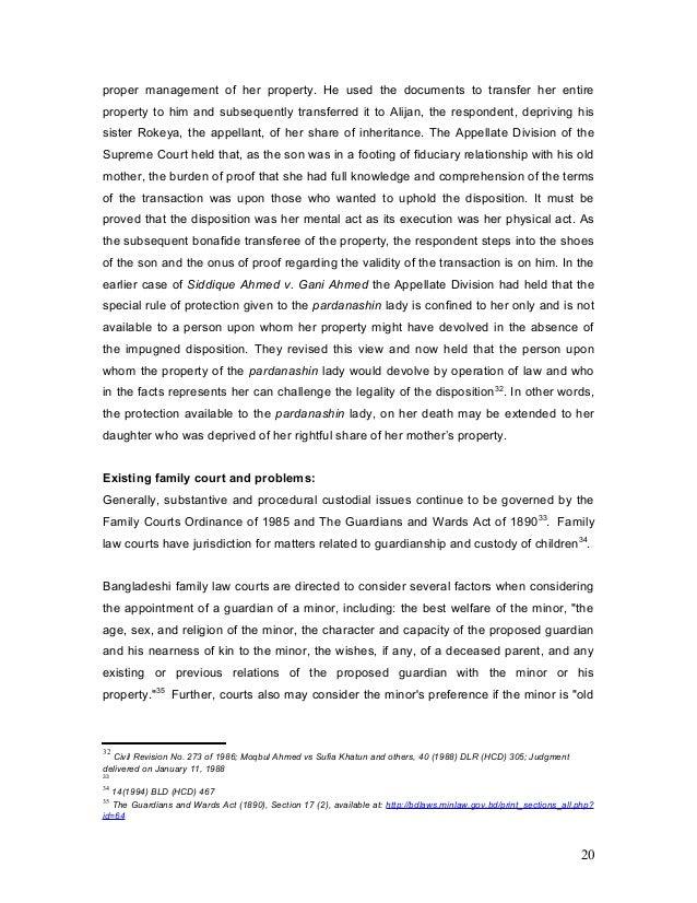 Bangladesh Property Inheritance Law