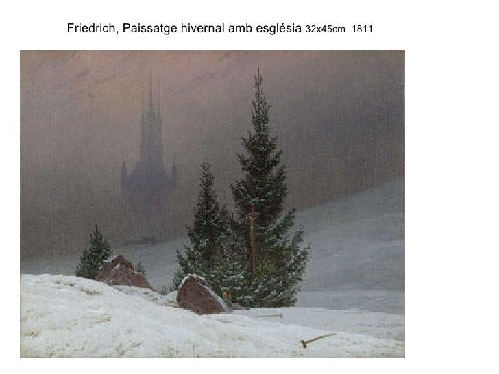Friedrich, Paissatge hivernal amb església  32x45cm 1811