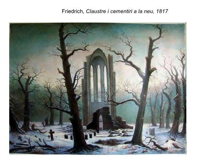 Friedrich,  Claustre i cementiri a la neu, 1817