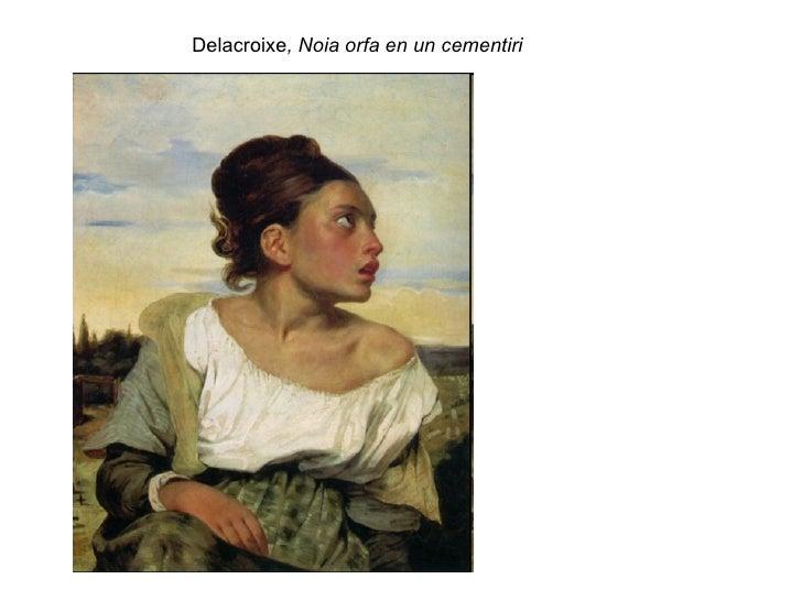 Delacroixe , Noia orfa en un cementiri