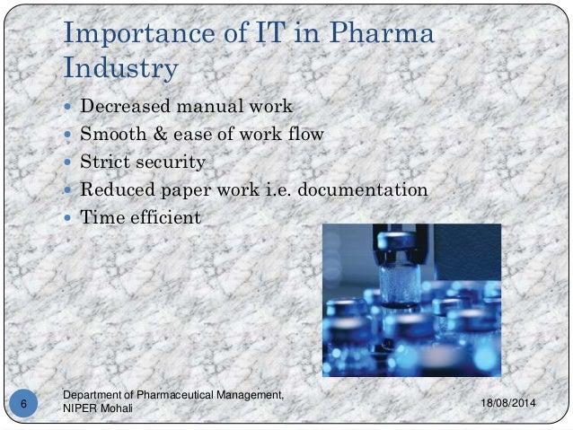 Roleofinformationtechnologyinpharmaceuticalindustry