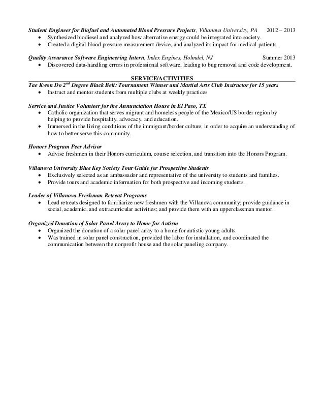 Student Assistant Digital Projects Resume