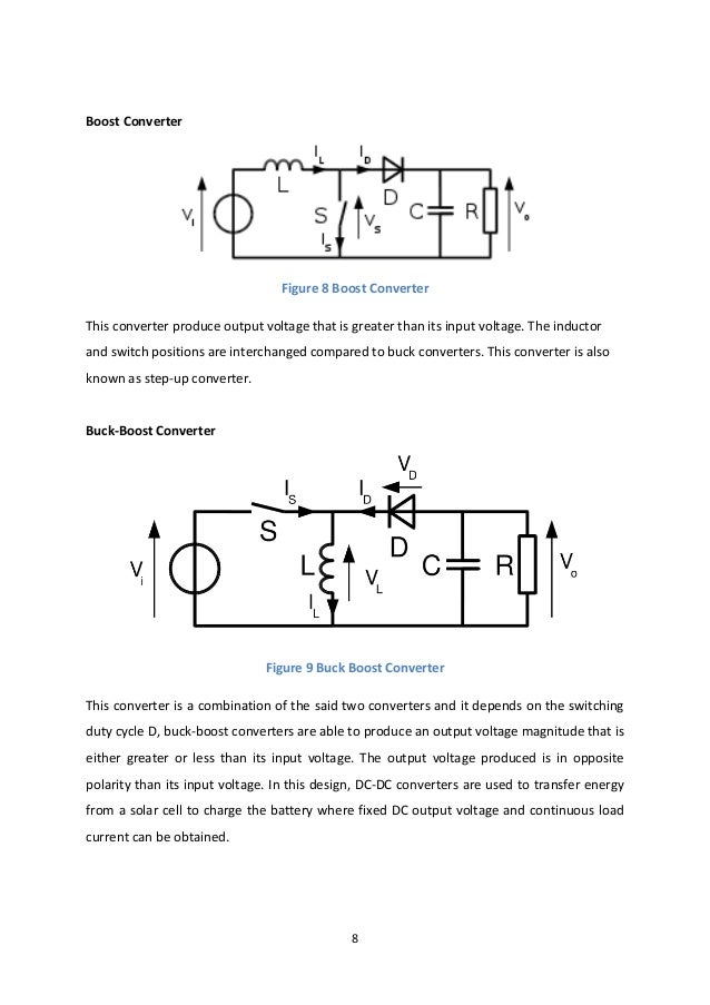 8 Boost Converter Figure 8 Boost Converter This converter produce output voltage that is greater than its input voltage. T...