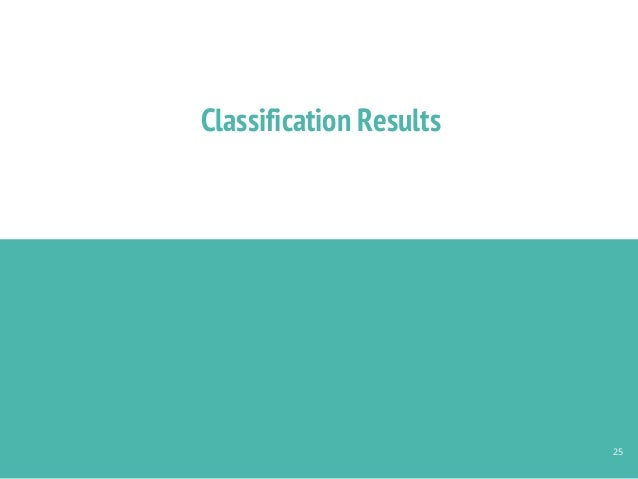 Classification Results 25