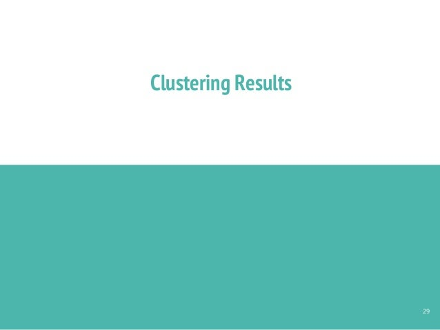 Clustering Results 29
