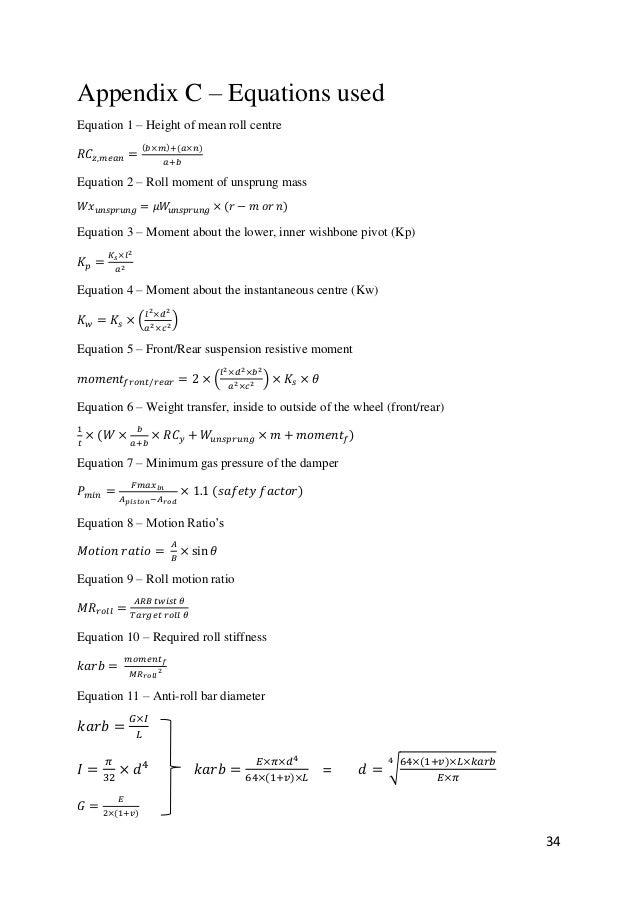 Dissertation design of a formula student race car spring damper an sciox Choice Image