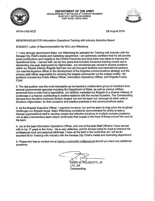 ltc polizzotti jr letter of recommendation