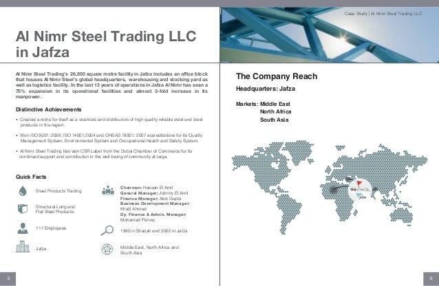 JAFZA-Al Nimr Steel Trading Case Study