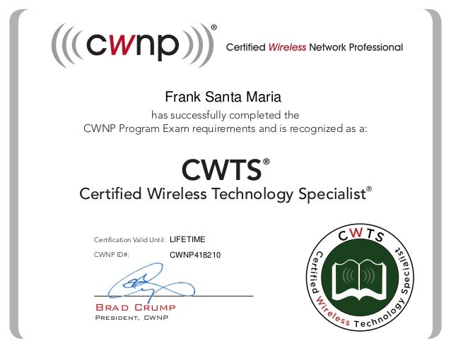 CWTS Certification