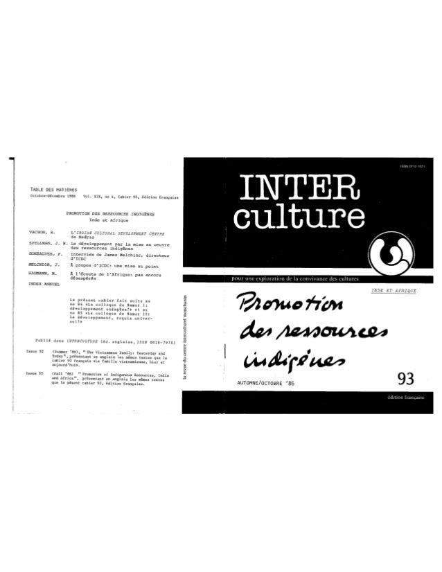 93 promotion des ressources indigènes. vachon, spellman, gonsalves, melchior, haumann. (document à télécharger en form...