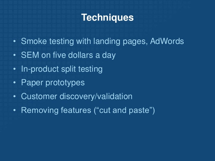 Lean Startup Wiki: http://leanstartup.pbworks.com</li></li></ul><li>