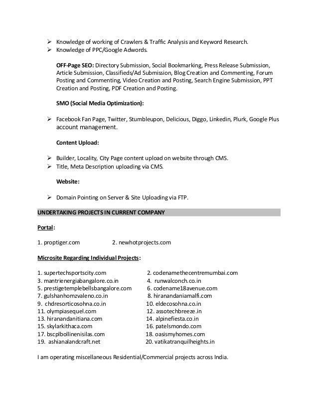 resume anuj kumar gupta online marketing