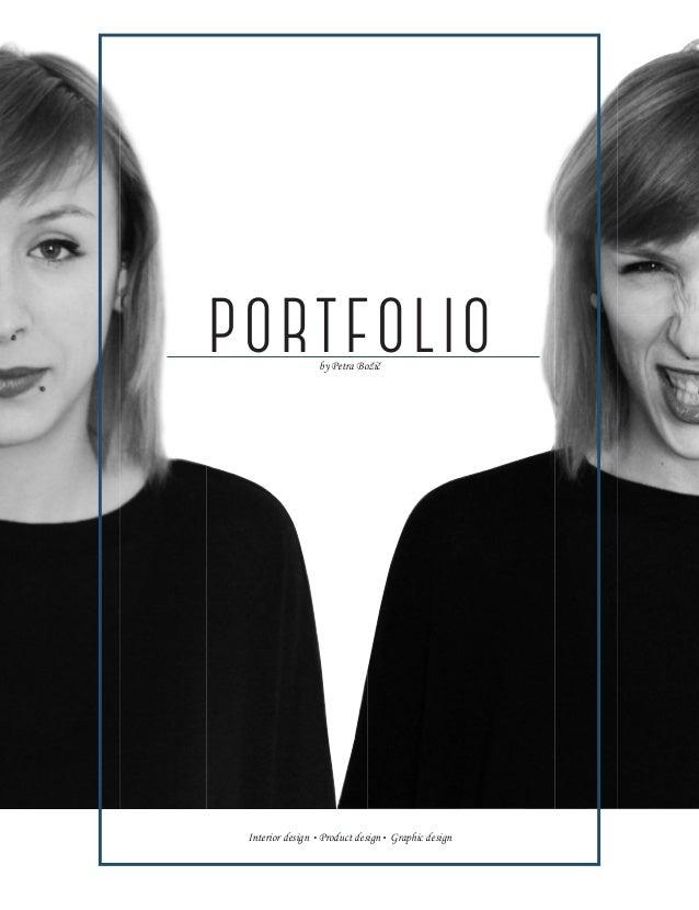 PORTFOLIOby Petra Božič Interior design Product design Graphic design