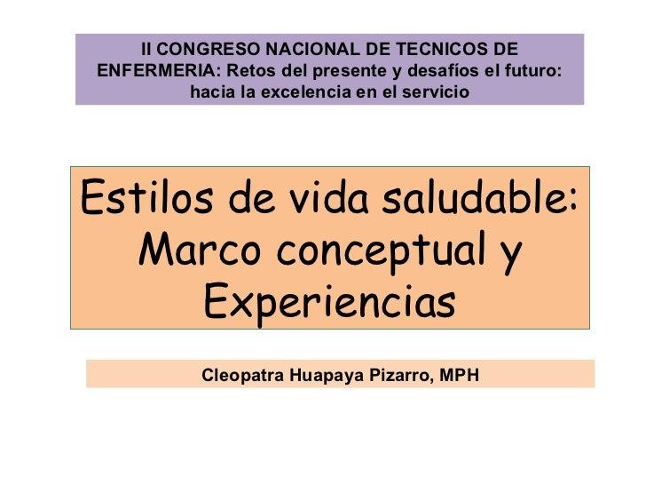 Estilos vida saludables marco conceptual y experiencias - CICAT-SALUD