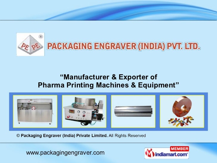 """ Manufacturer & Exporter of Pharma Printing Machines & Equipment"""
